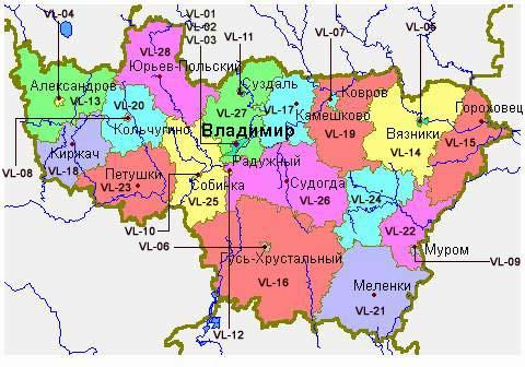 Vladimir Russia Map.Whkmla History Of Vladimir Oblast